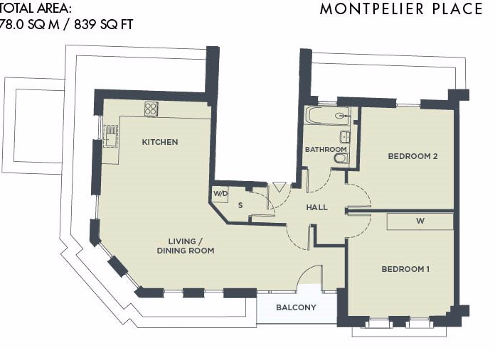 Montpelier Place – Last Remaining Two Bedroom Apartment